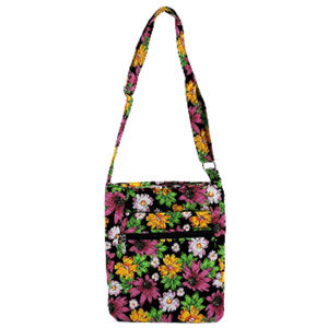 Handbags - Floral Quilted Crossbody Bag